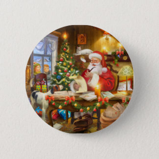 Cute holiday Christmas 6 Cm Round Badge