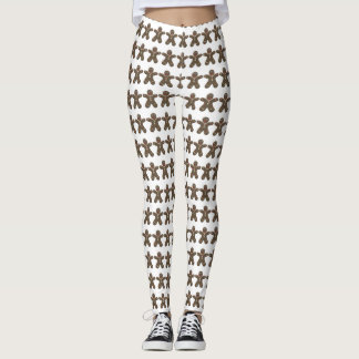 Cute Holiday Gingerbread Men Pattern Leggings