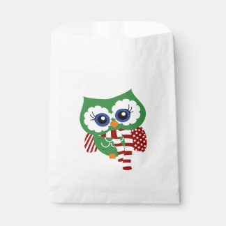 Cute Holiday Owl Favor Bags Favour Bags