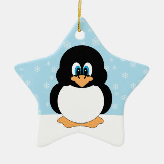 Cute Holiday Penguin Ornament