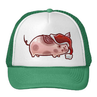 Cute Holiday Pig hat Hat