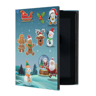 Cute Holiday Scene Illustration Cases For iPad