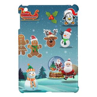 Cute Holiday Season Cartoon iPad Mini Cover