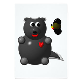 Cute Honey Badger and Honey Bee: Don't badger me! 9 Cm X 13 Cm Invitation Card