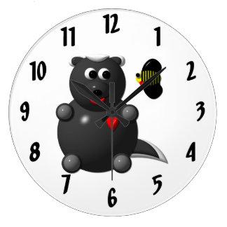 Cute Honey Badger with Bee Clock