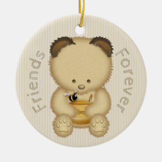 Cute Honey Bear BFF Ceramic Ornament