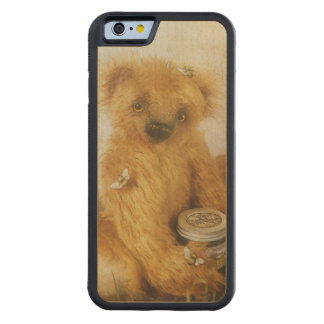 Cute Honey Bear Teddy Carved Maple iPhone 6 Bumper Case