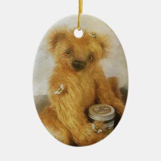 Cute Honey Bear Teddy Personalized Ceramic Oval Decoration