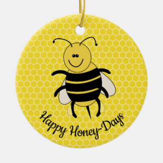 Cute Honey Bee Christmas Ornament Happy Honey Days