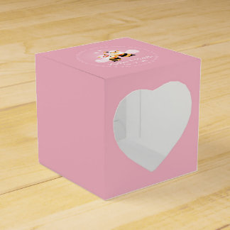 Cute Honey Bee Couple Pink Wedding Party Thank You Favour Box
