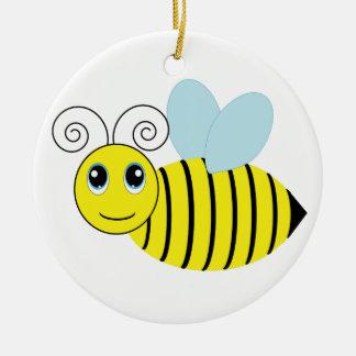Cute Honey Bee Round Ceramic Decoration