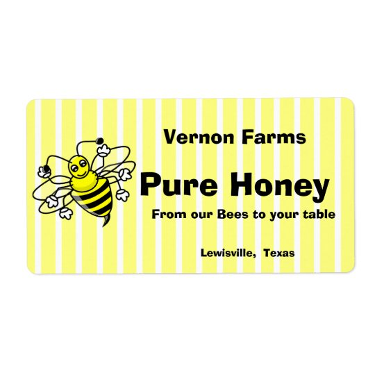Cute Honey Jar Label
