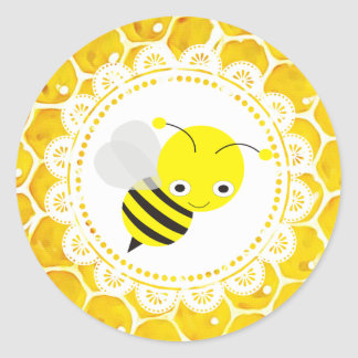 Cute Honeybee Honeycomb Stickers