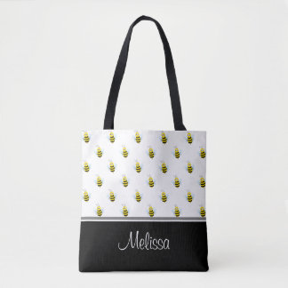 Cute Honeybees | Personalized Tote Bag