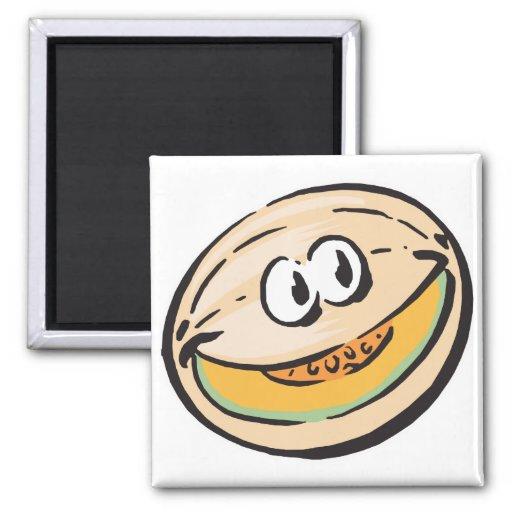 cute honeydew melon refrigerator magnet
