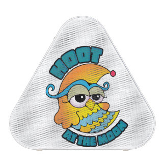 Cute Hoot At The Moon Owl Cresent Cartoon Graphic