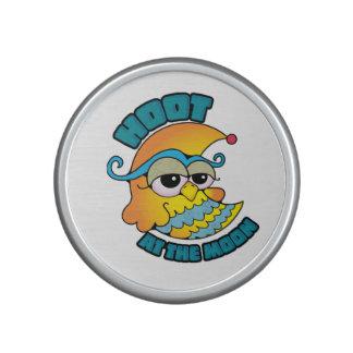 Cute Hoot At The Moon Owl Cresent Cartoon Graphic Speaker
