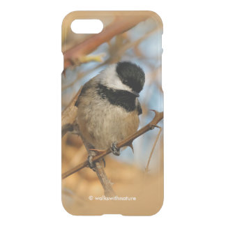 Cute Hopeful Hungry Black-Capped Chickadee iPhone 8/7 Case