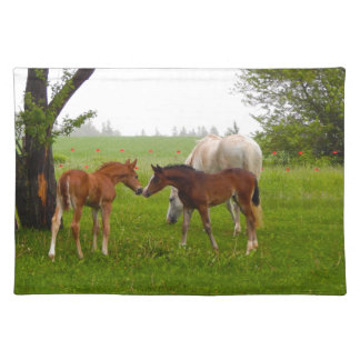 CUTE HORSE FOALS PLACEMAT