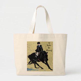 Cute Horse Show Equestrian Large Tote Bag