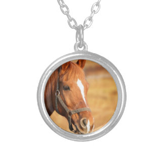 CUTE HORSE SILVER PLATED NECKLACE