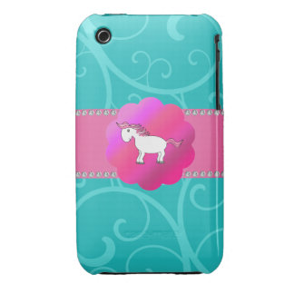 Cute horse turquoise swirls iPhone 3 covers