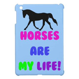 Cute Horses Are My Life Equestrian iPad Mini Case