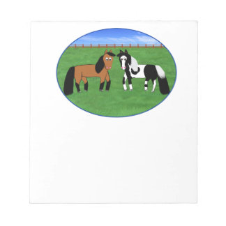 Cute Horses Notepad