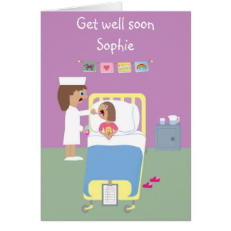 Cute Hospital Get Well Soon card