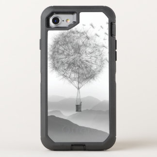 Cute Hot Air Balloon Dandelion Seeds Blowing OtterBox Defender iPhone 8/7 Case