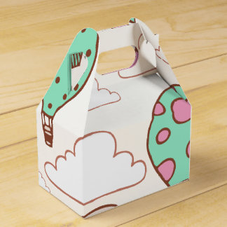Cute Hot Air Balloons Pattern Favour Box