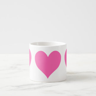Cute Hot Pink Heart Espresso Cup