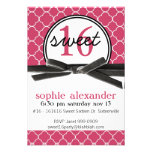 Cute Hot Pink Sweet 16 Party Invite