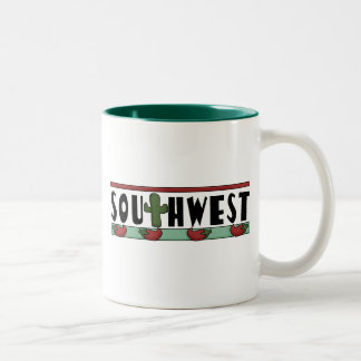 Cute Hot Red Chili Peppers - American Southwest Two-Tone Mug