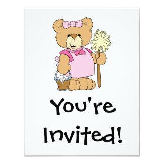 Cute House Cleaning Bear Card