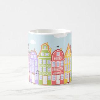Cute Houses Medieval Town Cartoon Town Mug