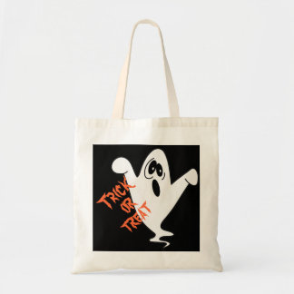 Cute Howling Ghost Trick or Treat Canvas Bags