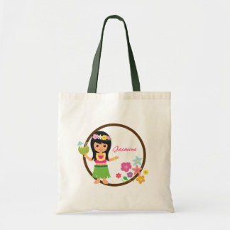 Cute Hula Girl Hawaiian Luau Themed Tote Bag