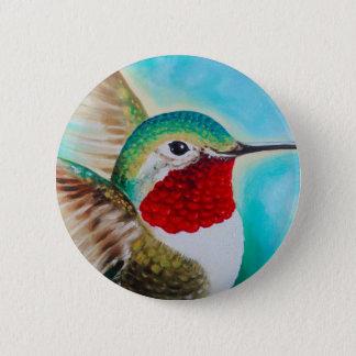 Cute Hummingbird 6 Cm Round Badge
