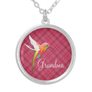 Cute Hummingbird Pink Necklace for Grandma