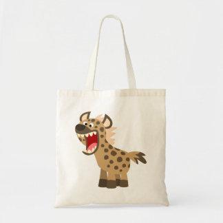 Cute Hungry Cartoon Hyena Tote Bag