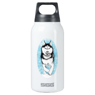 Cute Husky Dog Insulated Water Bottle