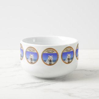 Cute Husky's with blue eye`s Soup Mug