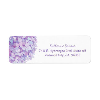 Cute Hydrangea Bloom Return Address Return Address Label