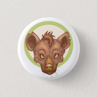Cute Hyena Face 3 Cm Round Badge