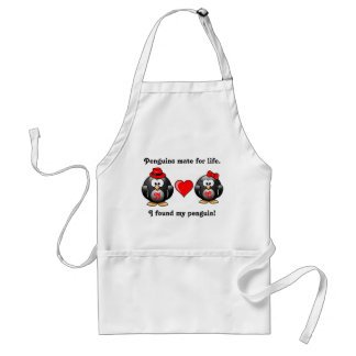 Cute I Found My Penguin Mate for Life Red Heart Standard Apron