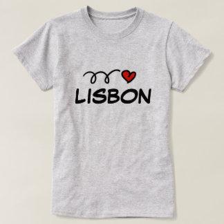 Cute I heart Lisbon t shirt for women
