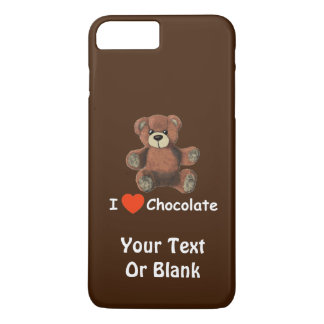 Cute I Heart (Love) Chocolate Teddy Bear iPhone 8 Plus/7 Plus Case