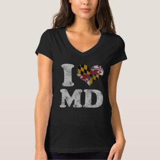 Cute I heart Maryland Flag MD T-Shirt