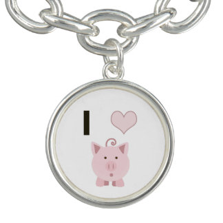 Cute I heart pigs Desgin